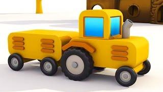 Max der Bagger - Traktor und Anhänger - 3D Cartoon in DEUTSCH