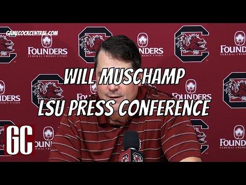 Will Muschamp - LSU Preview, South Carolina Gamecocks