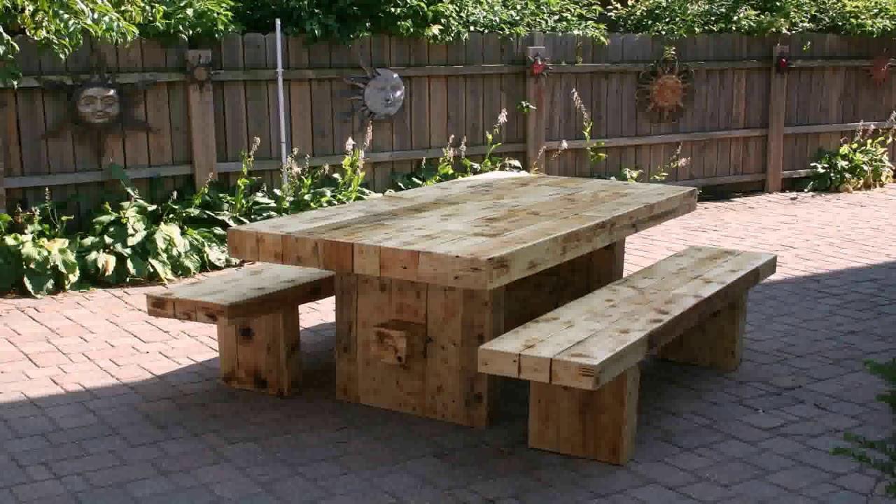 Wood Garden Bench Designs - YouTube