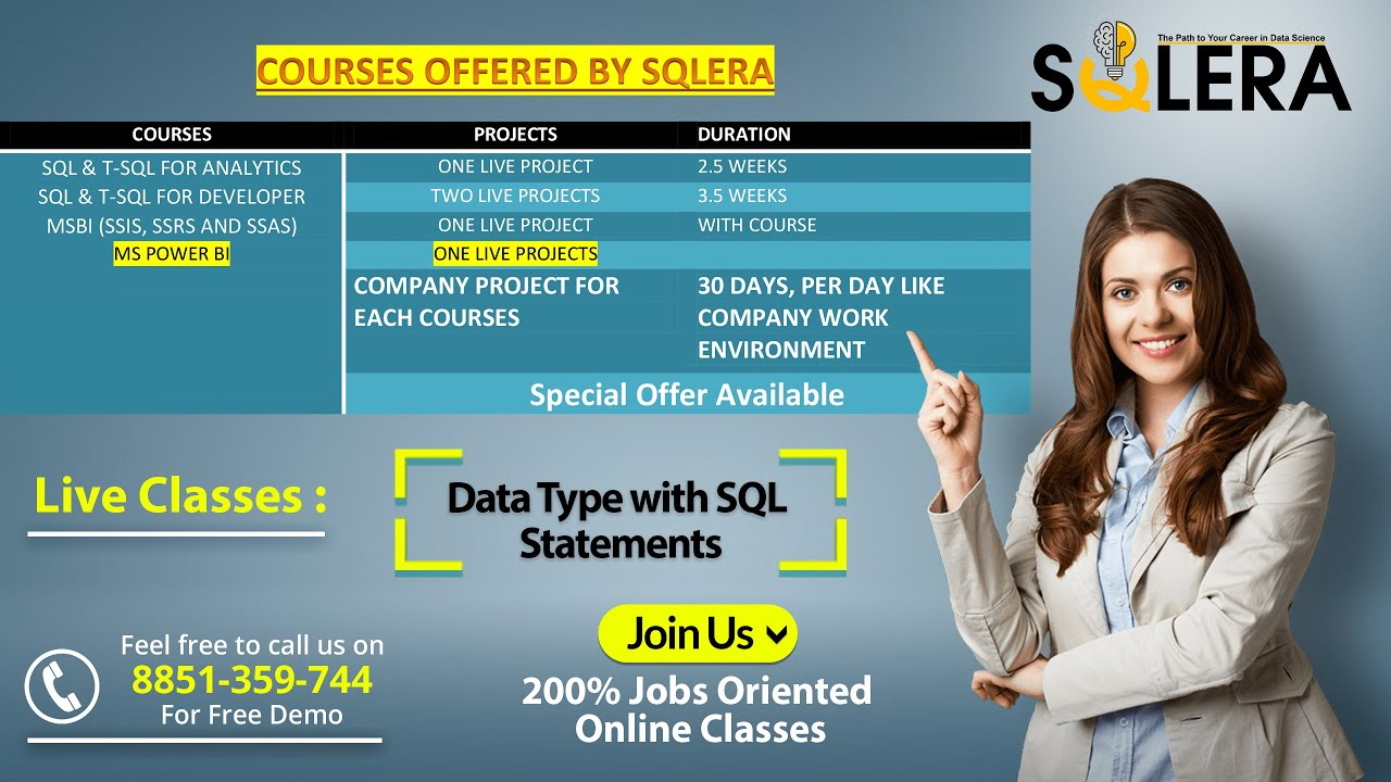 Data Type with SQL Statements