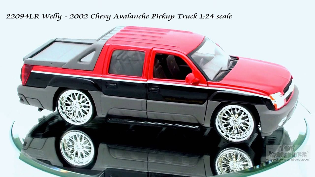 22094LR Welly 2002 Chevy Avalanche Pickup Truck 124 scale Diecast Wholesale - YouTube