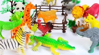 Kids toys videos - building farm with animals and birds - animal sounds