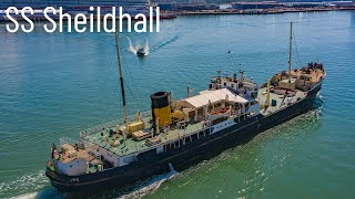 SS Sheildhall Steam Ship - Departing Port of Southampton