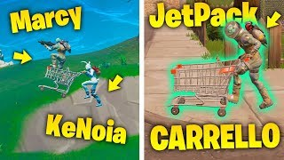 Can YOU FLY WITH CARRELLO and JETPACK? - TROLL ON FORTNITE ITA (Royal Victory)