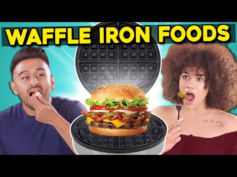 5 Crazy Waffle Iron Experiments   People Vs. Food