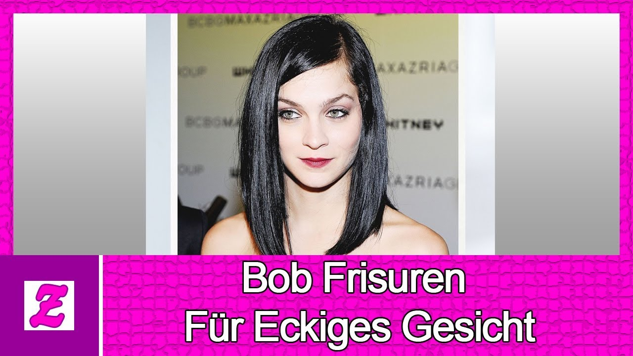 bob frisuren f r eckiges gesicht ideen youtube. Black Bedroom Furniture Sets. Home Design Ideas