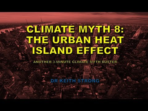 8) THE URBAN HEAT ISLAND EFFECT