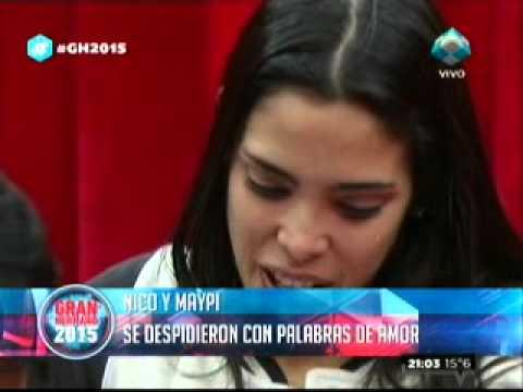 """""""GH2015"""": Maypi y Nicolás tuvieron su despedida fogosa"""