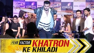 uncut   khatron ke khiladi season 7 launch arjun kapoor contestant colors tv