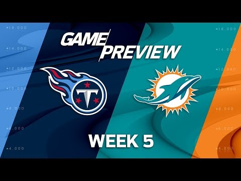 Tennessee Titans vs. Miami Dolphins | Week 5 Game Preview | NFL Playbook