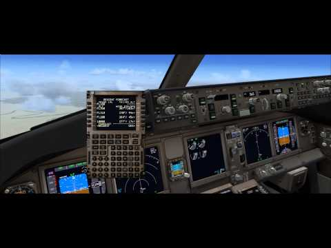pmdg 777 300 cold and dark from Baghdad to Dubai part 2