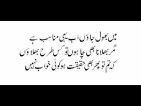 Main Bhool Jaaon Ab Yehi Munasib Hai - Urdu/Hindi ...