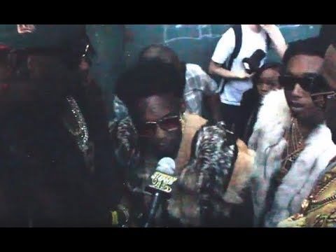 Migos Backstage Before A Show Wearing Mink & Fox Fur