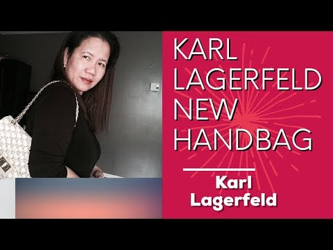 LUNCH DATE AND KARL LAGERFELD NEW HANDBAG REVEAL