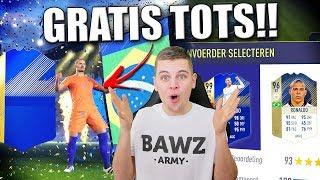 TOTS KRIJGEN ZONDER KOSTEN + ZIEKE FUT DRAFT!! FIFA 18 NEDERLANDS