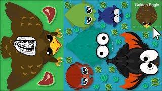 Mope.io GOLDEN EAGLE TROLLS ALL OCEAN ANIMALS! GOLDEN EAGLE FUNNY TROLLS IN MOPE.IO