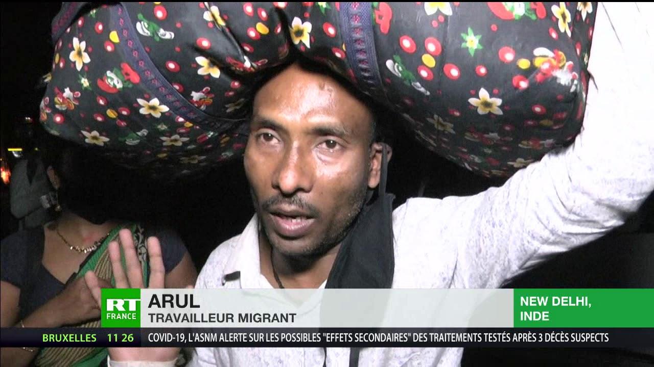 Covid-19 en Inde : le confinement entraîne l'exode des travailleurs migrants indiens