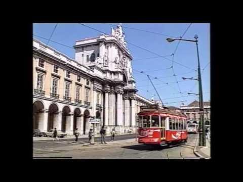 Los veteranos tranvías de Lisboa 1990