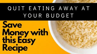 Ramen NOODLES is making me Rich with SAVINGS! Oodles of Noodles!