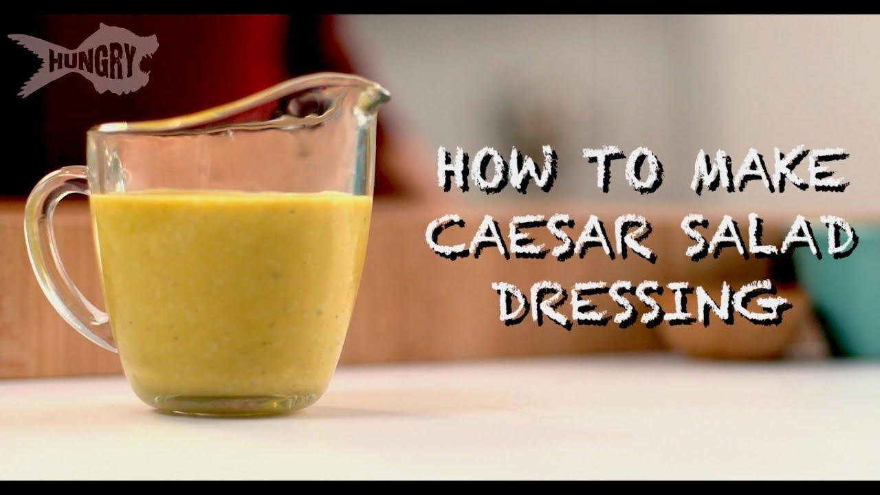 how to make caesar salad dressing youtube. Black Bedroom Furniture Sets. Home Design Ideas