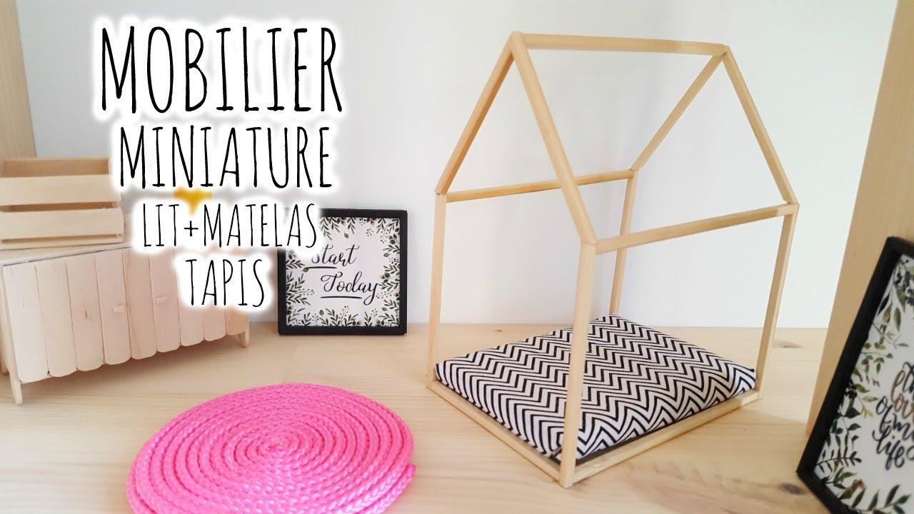 diy miniature maison poup e lit matelas tapis youtube. Black Bedroom Furniture Sets. Home Design Ideas