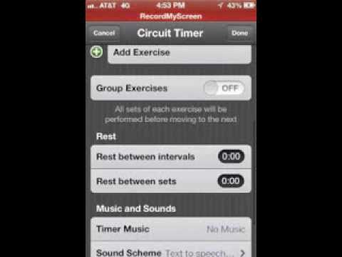 Workout Interval Timer App - Iphone Ipad - Seconds Pro