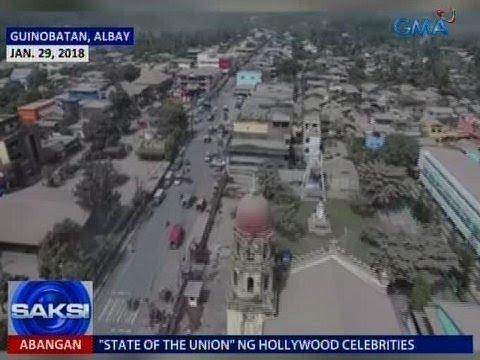 Saksi: Guinobatan, Camalig at Daraga sa Albay, nabalot ng abong ibinuga ng bulkang Mayon