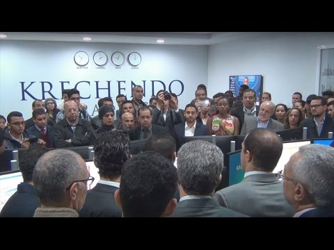 Inauguration de la salle des marchés de Krechendo Trading Agadir en partenariat avec Universiapolis