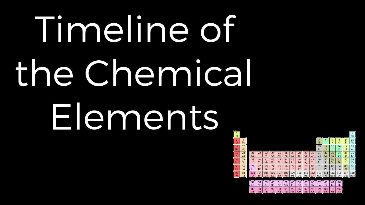 Timeline of the chemical elements youtube urtaz Image collections