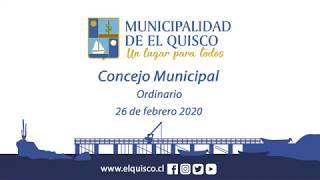 Concejo Municipal 26 de febrero 2020