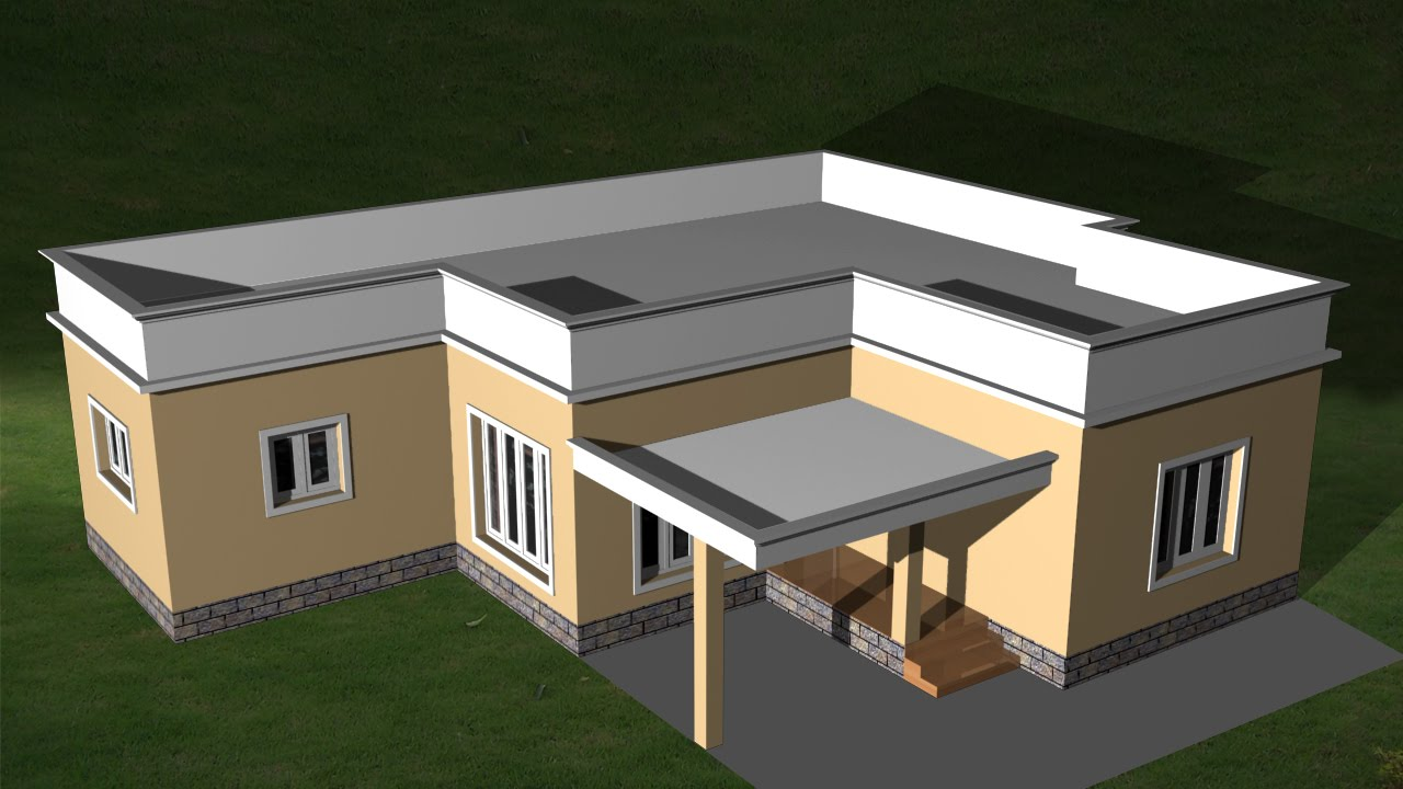 Autocad 3d house creating flat roof autocad flat roof youtube