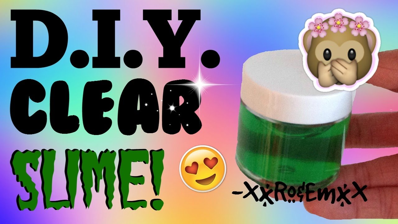 Diy Crystal Clear Slime  How To Make Stretchy, Transparent Slime!  (amazing!)