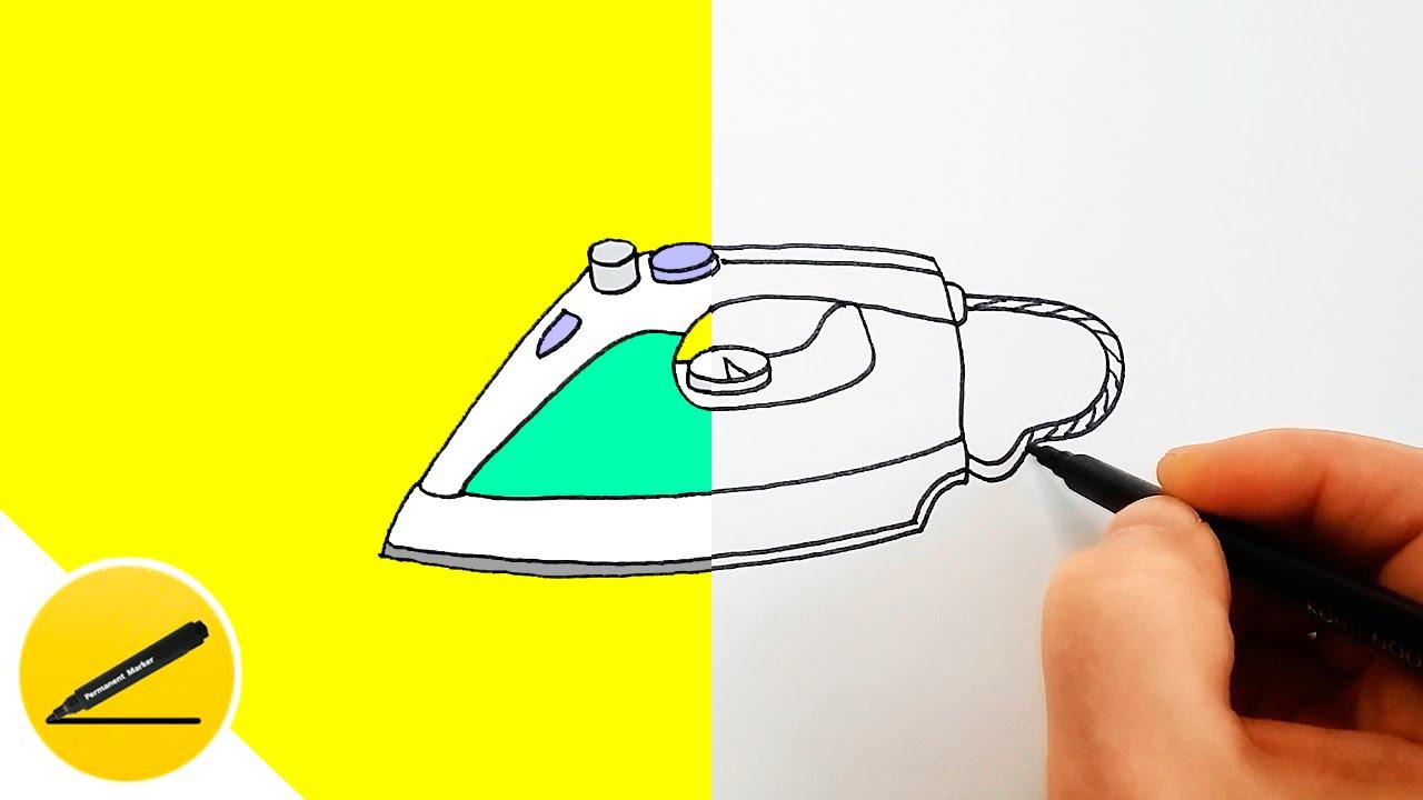 утюг рисунок карандашом пожелания, или еще