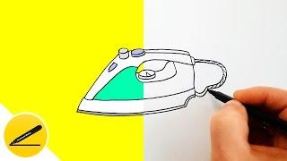 Как Нарисовать Утюг - Рисуем утюг своими руками - Бытовая Техника