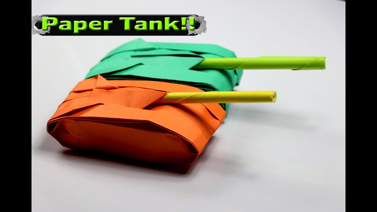how to make a paper tank that shoots easy