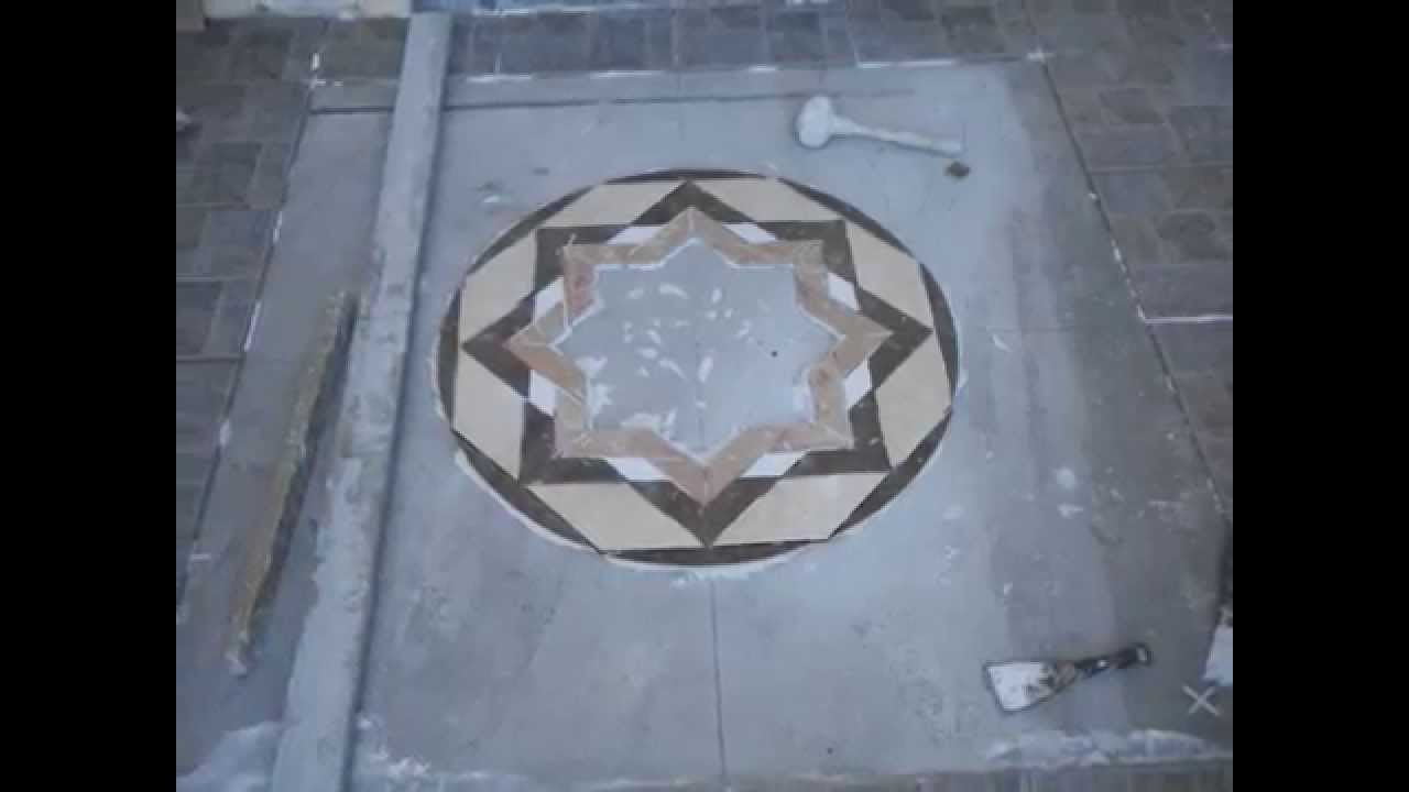Making medallion with tiles youtube making medallion with tiles dailygadgetfo Choice Image