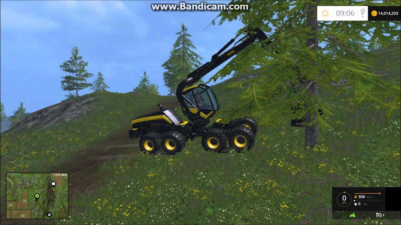 abattage arbre farming simulator 2015