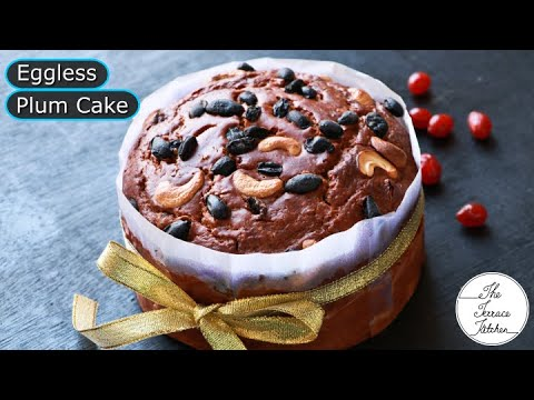 Christmas Special Eggless Plum Cake Recipe without Oven   Easy Plum Cake Recipe ~The Terrace Kitchen