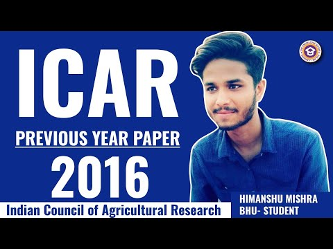 icar previous year paper 2016 old question paper of icar 2016