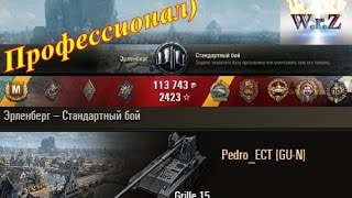 Grille 15  Профессионал)  Эрленберг EU-server  World of Tanks 0.9.15.1