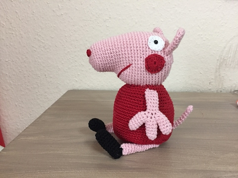 Amigurumi Tutorial Peppa Pig : Tuto peppa pig au crochet spécial gaucher youtube