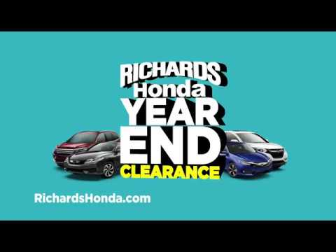 Year End Clearance Sales Event 2017   Richards Honda Of Baton Rouge