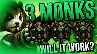 TRIPLE MONK 3v3... WILL IT WORK? - Venruk 7.3 Legion Arena Gameplay
