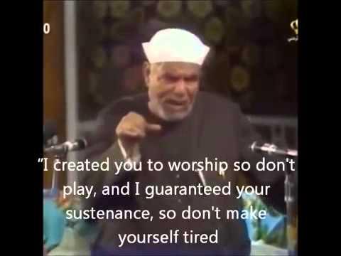 Sustenance - Sheikh Muhammad Metwaly ESha'rawy