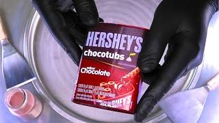 Satisfying Ice Cream Rolls with Hershey's Chocotubs - delicious fried Hersheys Ice Cream | ASMR Food