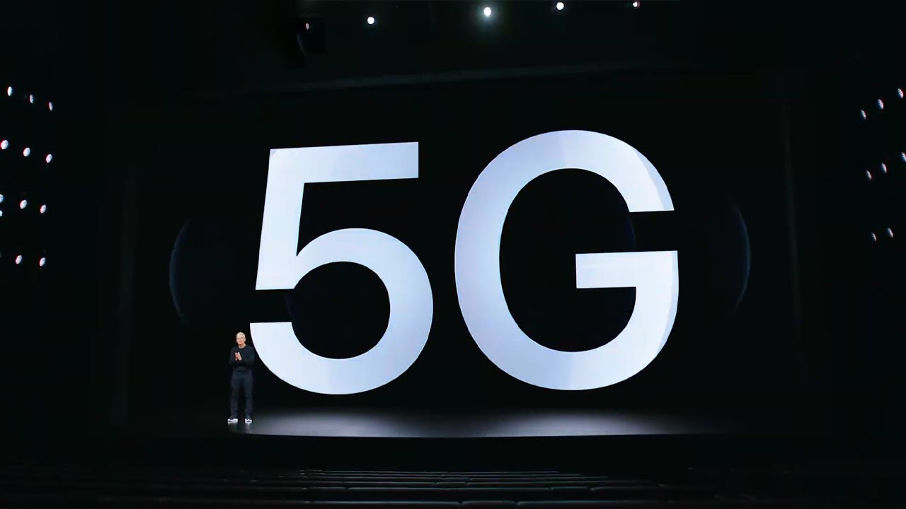 How many times Apple said 5G (with 5G)