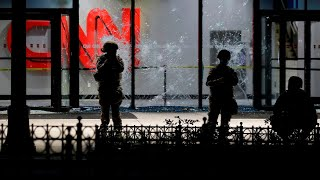 Atlanta race-riots target CNN Headquarters