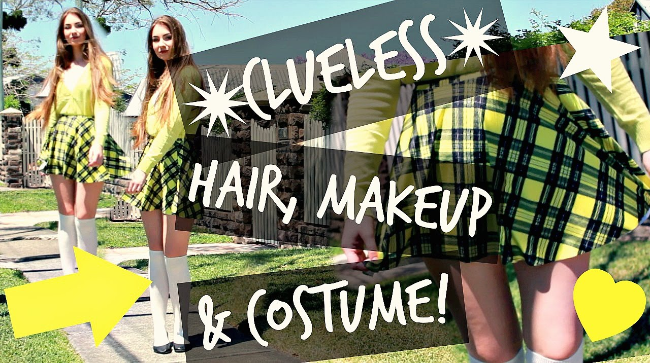 Cher Clueless Halloween Costume Makeup And Hair Youtube