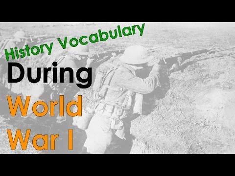World War I Vocabulary - Conleys Cool ESL