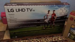 LG TV 55uk6300PVB Smart 2018 unboxing فتح صندوق